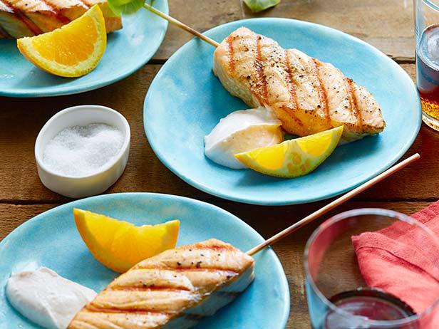kebabs de salmão
