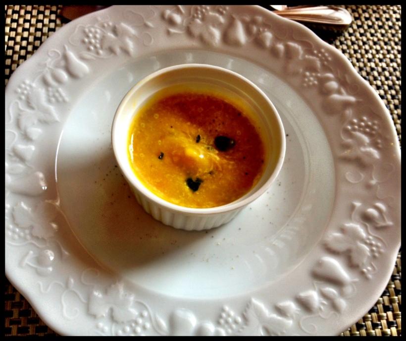 sopa de batata doce e açafrão